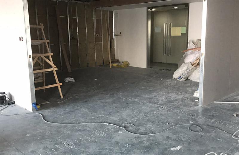 上海宝矿办公室装修工地实景
