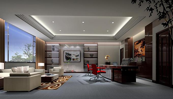 上海老板私人办公室装修空间布局