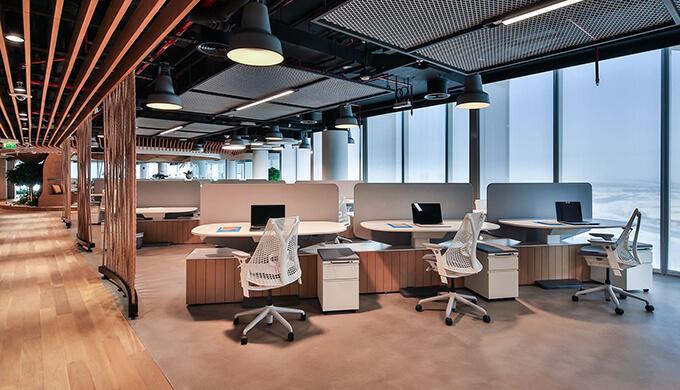 上海办公室装修材料的整体性组织设计原则