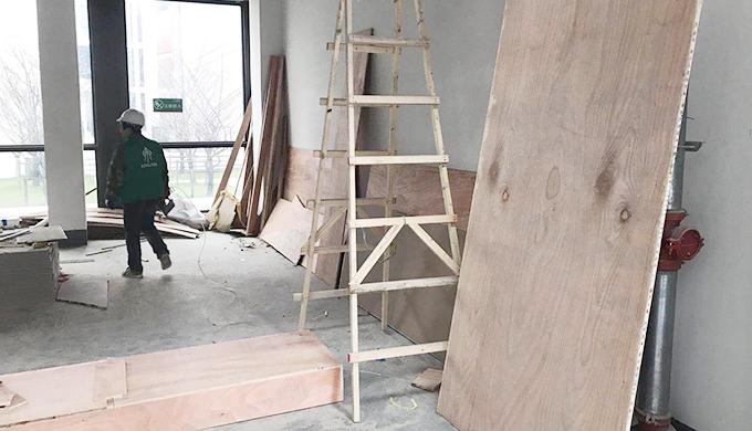 上海浦东御河企业公馆万格办公室装修工地