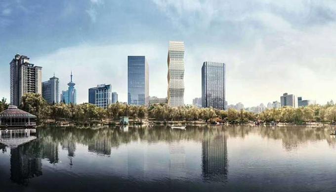 上海古北国际财富中心办公室装修公司