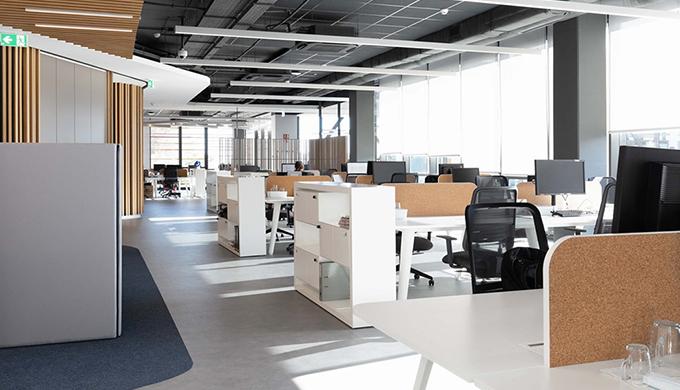 上海室内办公室空间各功能区域装修与采光渲染