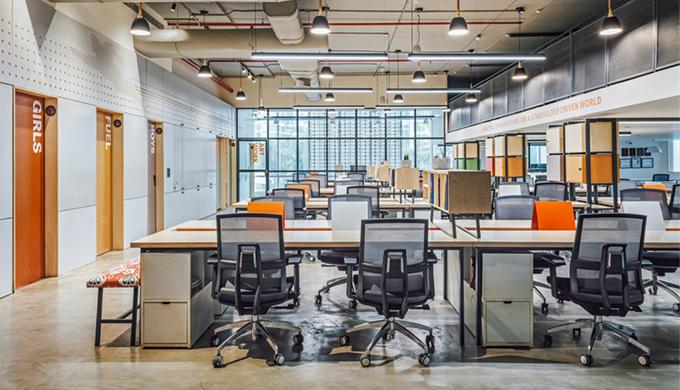 上海办公室装修瓷砖背景墙的应用及选购要点