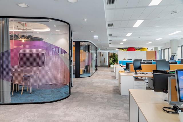 上海长宁区电商公司办公室装修设计是怎样布局的?